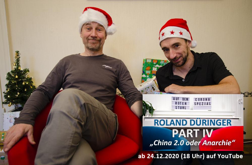 Roland Düringer auf dem roten Stuhl